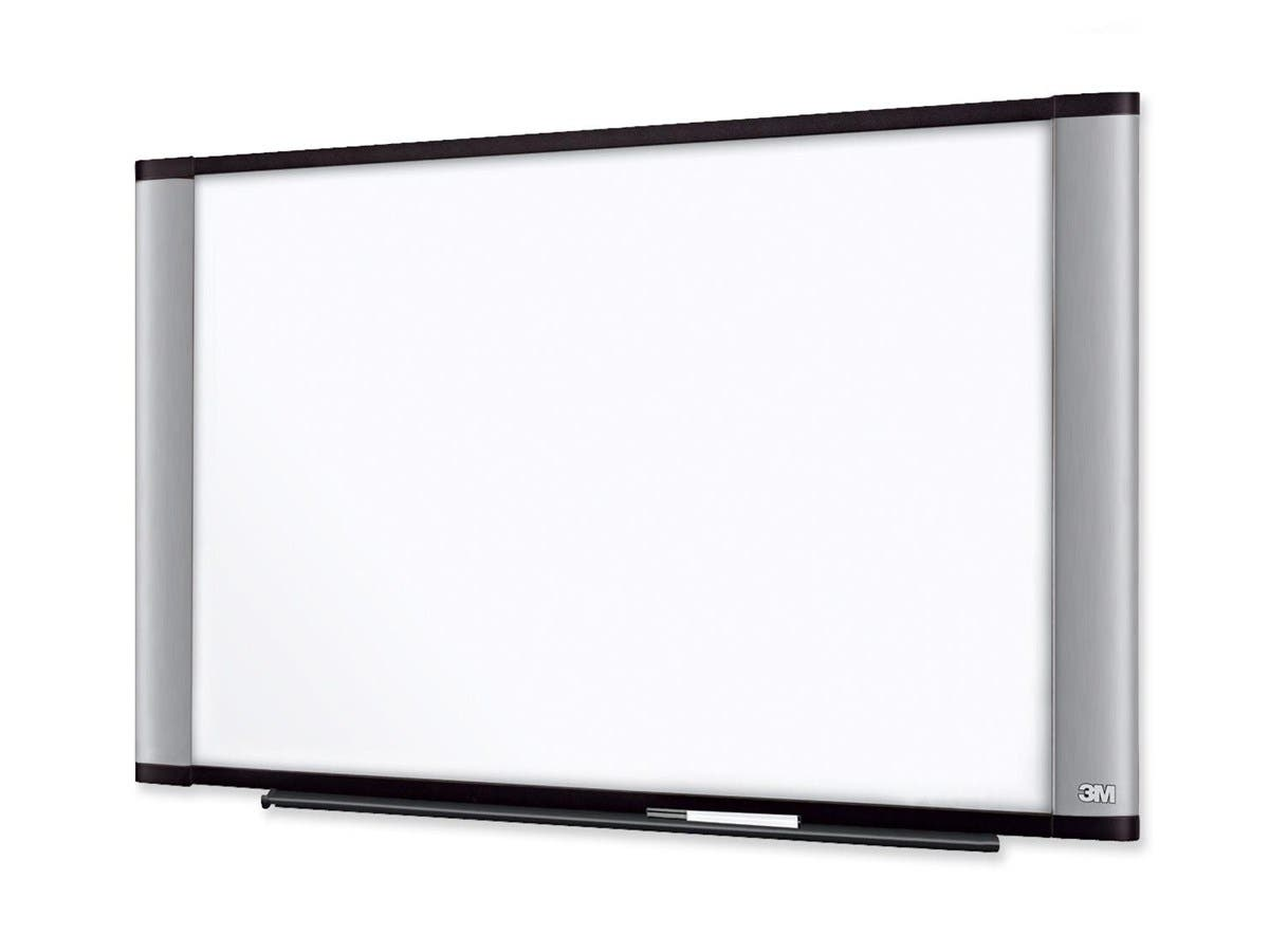 "3M Wide Screen Style Melamine Dry Erase Board - 48"" (4 ft) Width x 36"" (3 ft) Height - Aluminum Frame - 1 Each"