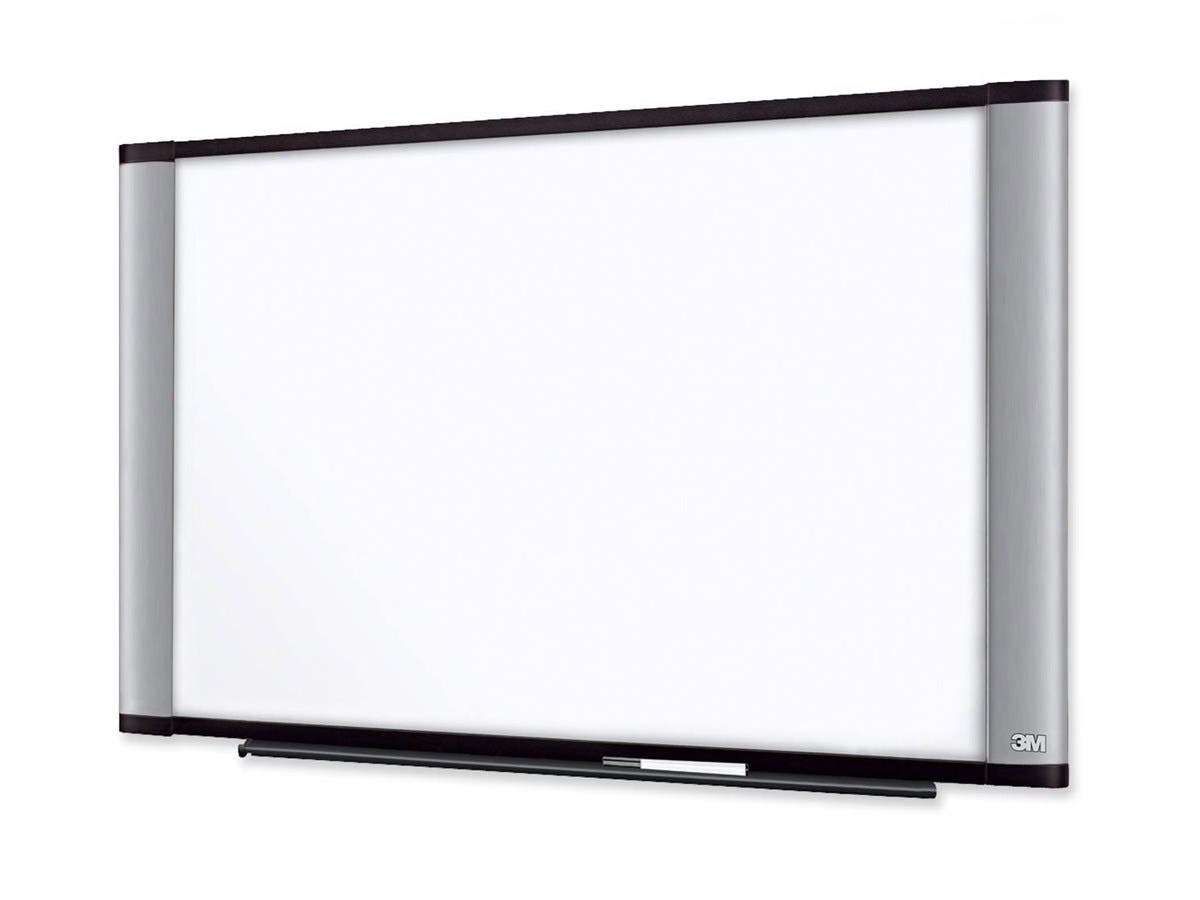 "3M Wide Screen Style Melamine Dry Erase Board - 72"" (6 ft) Width x 48"" (4 ft) Height - Aluminum Frame - 1 / Each"
