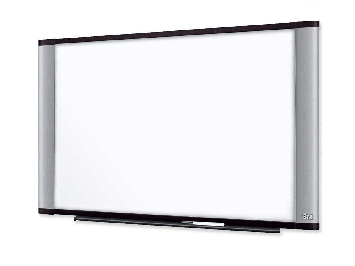 "3M Dry Erase Board - 96"" (8 ft) Width x 48"" (4 ft) Height - Silver Melamine Surface - Aluminum Frame - 1 / Each-Large-Image-1"
