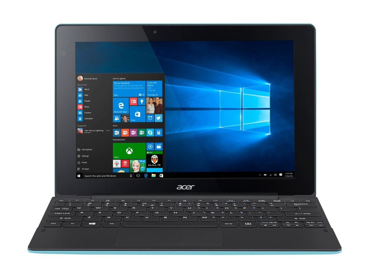 "Acer NT.G8UAA.002 Aspire Switch 10 E Sw3-016-10Lf - Tablet w/Keyboard Dock - Atom X5 Z8300 / 1.44 Ghz - Win10 Home 64Bit Edition 2Gb Ram 64 Gb Emmc 10.1"" Touchscreen 1280 X 800"