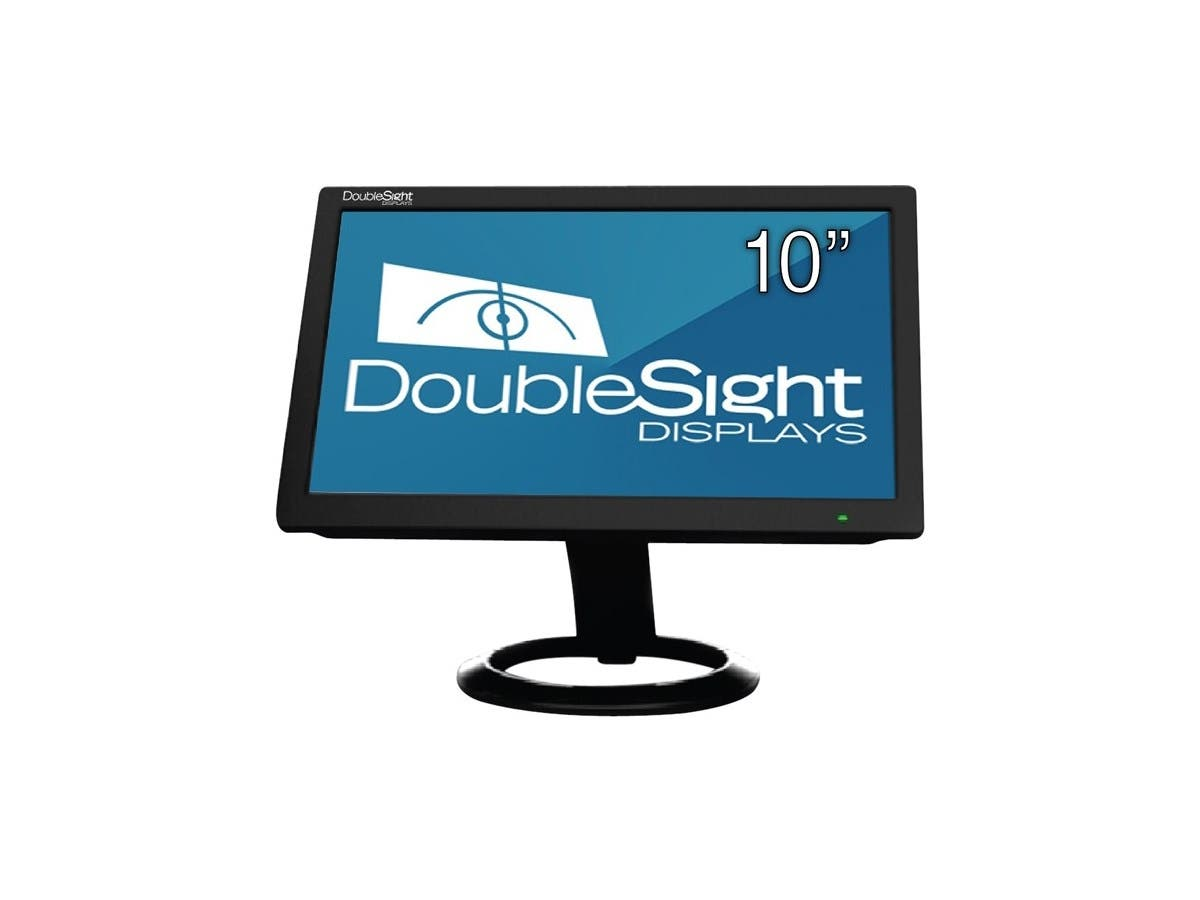 "DoubleSight Displays 10"" USB LCD Monitor TAA - Adjustable Display Angle - 1024 x 600 - 262,000 Colors - 200 Nit - 500:1 - WSVGA - USB - 4.90 W - Black"
