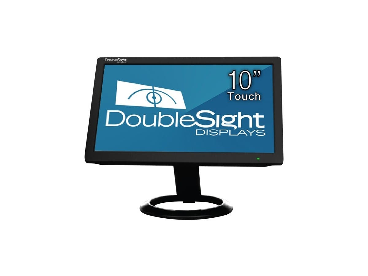 "DoubleSight Displays 10"" USB LCD Monitor with Touch Screen TAA - 1024 x 600 - WSVGA - Adjustable Display Angle - 262,000 Colors - 500:1 - 200 Nit - USB - Black - 3 Year-Large-Image-1"