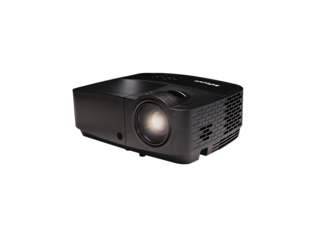 InFocus IN128HDSTx 3D Ready DLP Projector - 1080p - HDTV - 16:9 - Front, Ceiling - 2000 Hour Normal Mode - 5000 Hour Economy Mode - 1920 x 1080 - Full HD - 15,000:1 - 3500 lm - HDMI - USB