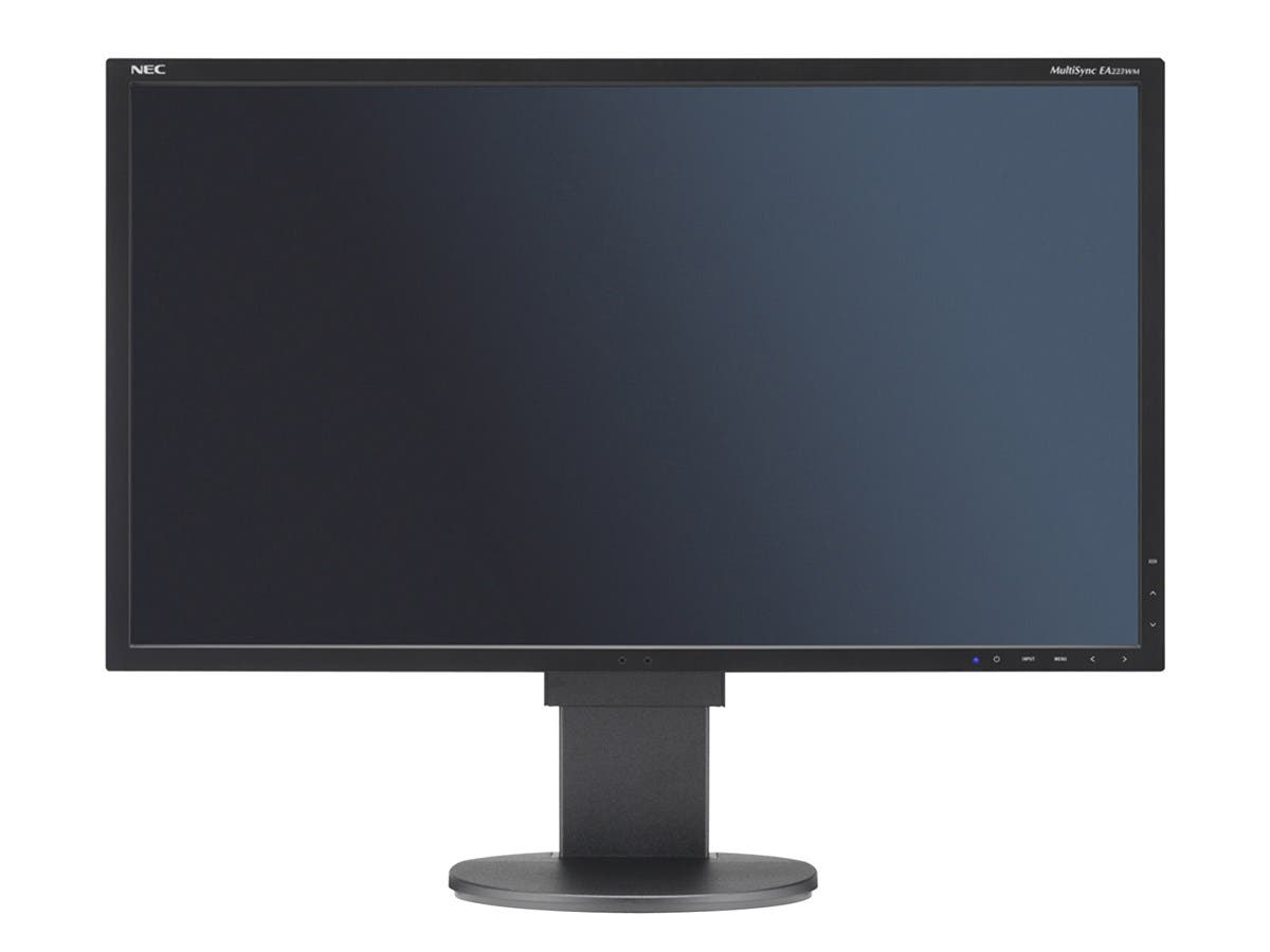 "NEC EA223WM-BK 22"" Black Widescreen LED Backlight TN Monitor, 1680 x 1050, 1000:1, 250cd/m2, D-Sub&DVI&USB Display Port, Built-in Speaker"