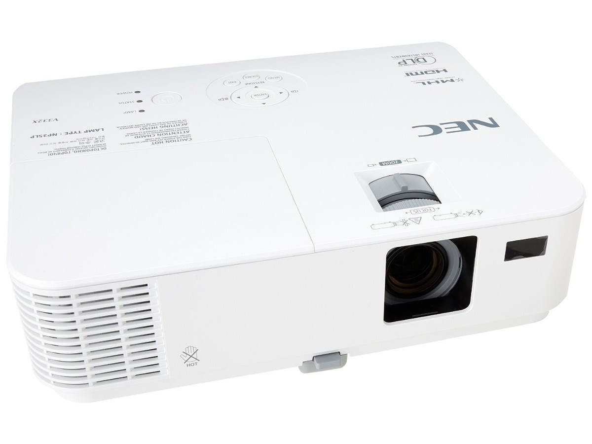 NEC NP-V332X 1080p Full HD Multimedia DLP Projector, 1920 x 1080, 10000:1, 3300cd/m2, HDMI&VGA, Built-in Speaker-Large-Image-1
