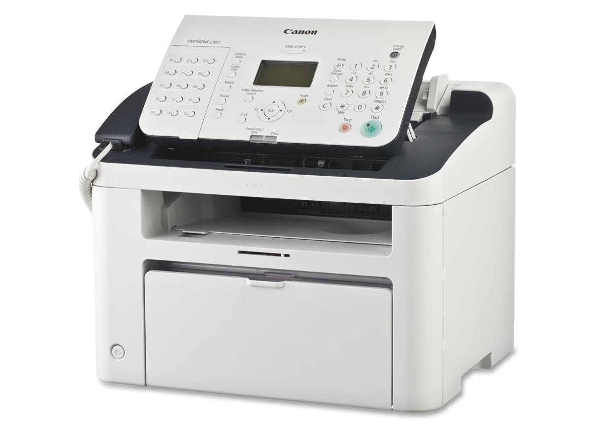 Canon FAXPHONE L100 Laser Multifunction Printer - Monochrome - Plain Paper Print - Desktop-Large-Image-1