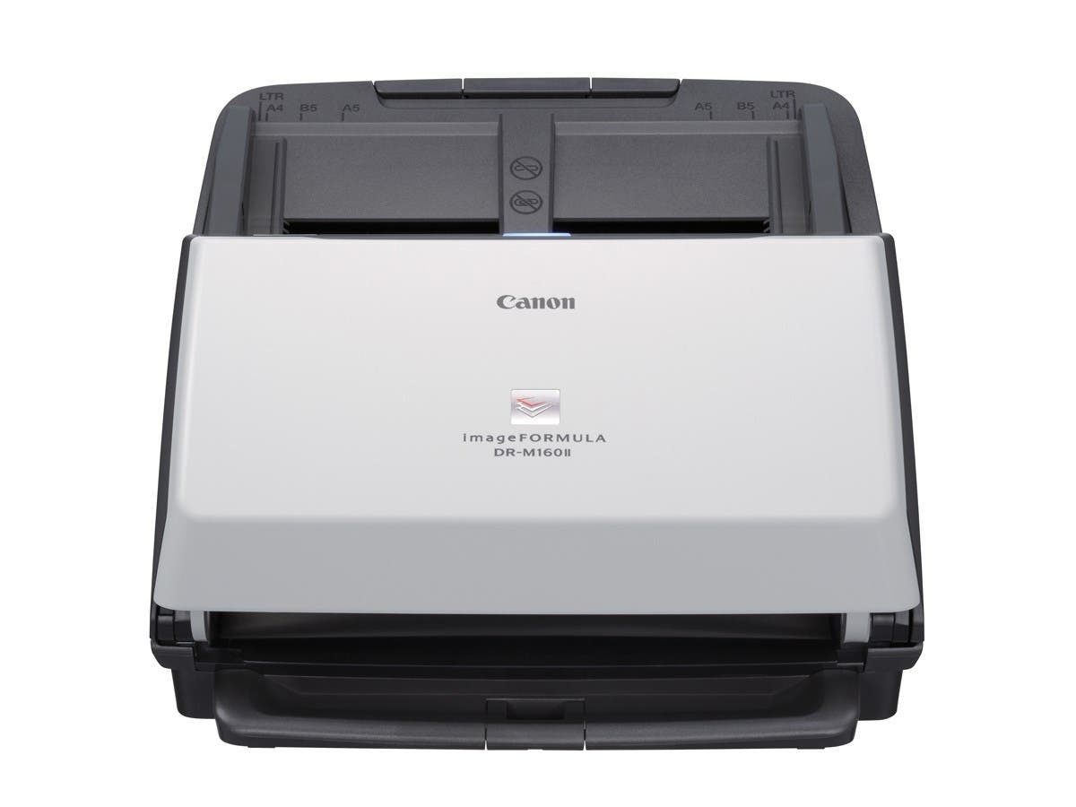 Canon imageFORMULA DR-M160II Sheetfed Scanner - 600 dpi Optical - 24-bit Color - 8-bit Grayscale - 60 - 60 - Duplex Scanning - USB