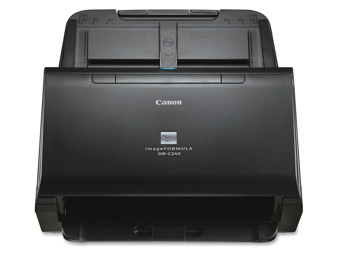 Canon imageFORMULA DR-C240 Sheetfed Scanner - 600 dpi Optical - 24-bit Color - 8-bit Grayscale - 45 - 30 - Duplex Scanning - USB-Large-Image-1