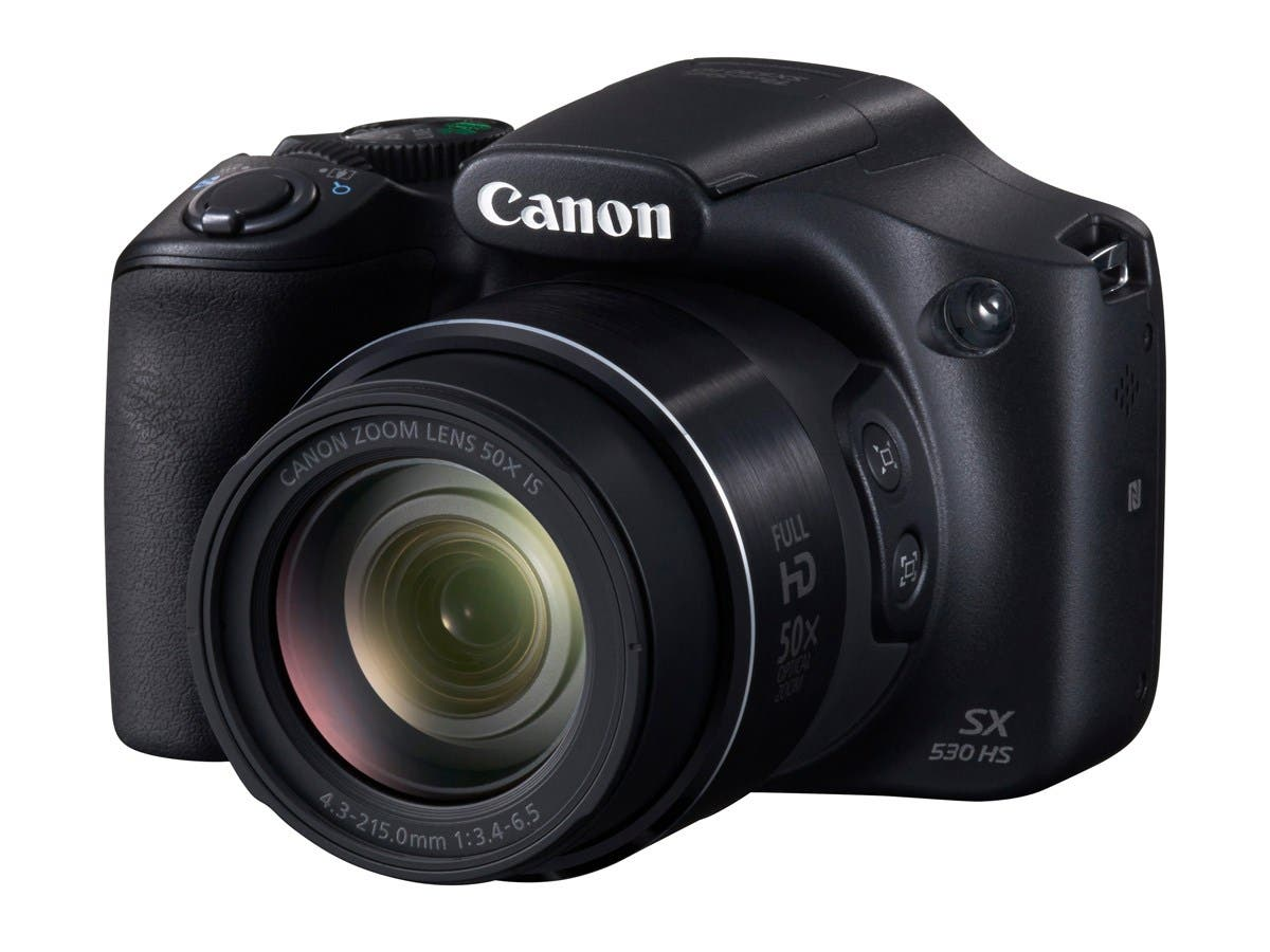 "Canon PowerShot SX530 HS 16 Megapixel Compact Camera - Black - 3"" LCD - 16:9 - 50x Optical Zoom - 4x - Optical (IS) - TTL - 4608 x 3456 Image - 1920 x 1080 Video - HDMI - PictBridge - HD Movie-Large-Image-1"
