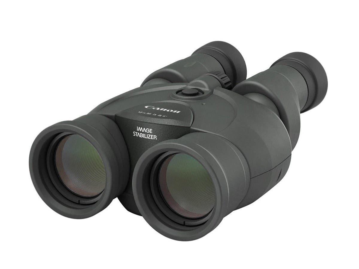 Canon 12 x 36 IS III Binocular - 12x 36 mm Objective Diameter - Porro II - Water Resistant - Optical - Diopter Adjustment-Large-Image-1