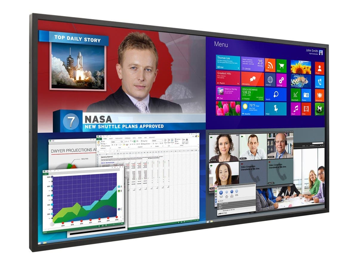 "Planar EP5814K 4K LCD Display - 58"" LCD - 3840 x 2160 - Edge LED - 480 Nit - 2160p - HDMI - USB - SerialEthernet - Black"
