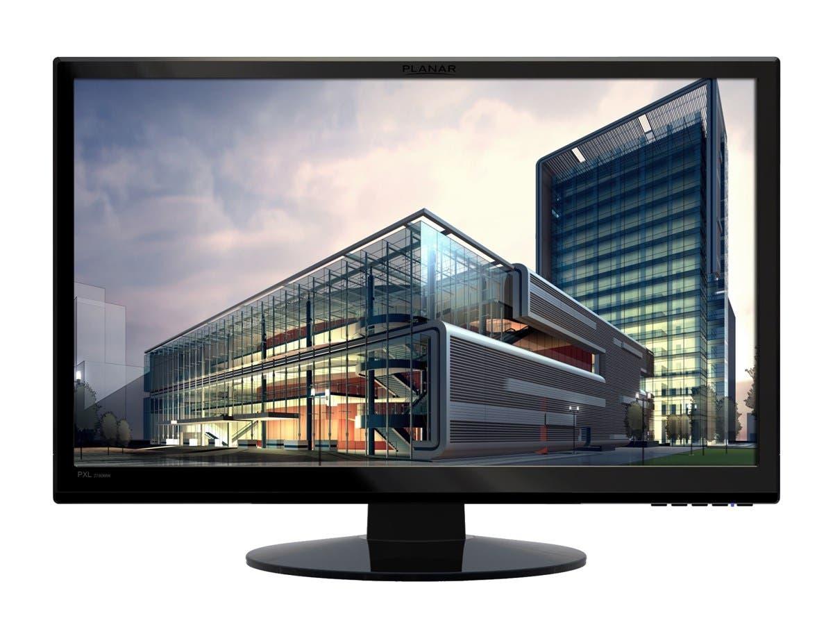 "Planar PXL2780MW 27"" LED LCD Monitor - 16:9 - 6.50 ms - 2560 x 1440 - 16.7 Million Colors - 420 Nit - 1,000:1 - WQHD - Speakers - DVI - HDMI - VGA - DisplayPort - 75 W - Black - RoHS-Large-Image-1"