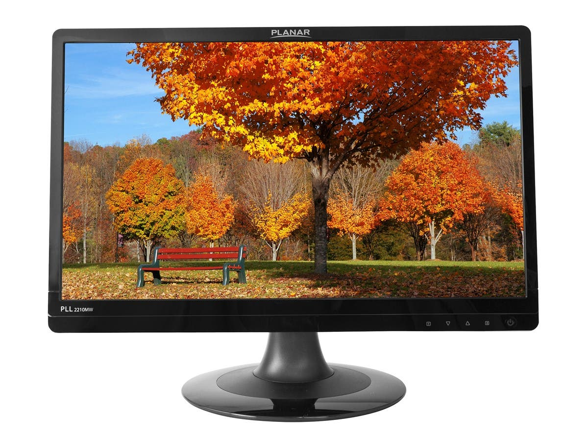 "Planar PLL2210MW 22"" LED LCD Monitor - 16:9 - 5 ms - Adjustable Display Angle - 1920 x 1080 - 16.7 Million Colors - 250 Nit - 1,000:1 - Full HD - Speakers - DVI - VGA - 25 W - Black - RoHS"