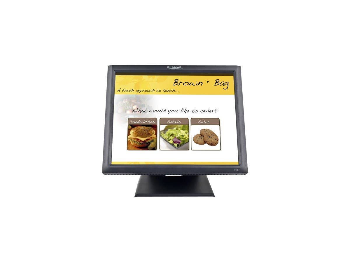 "Planar PT1745R 17"" LCD Touchscreen Monitor - 5 ms - 5-wire Resistive - 1280 x 1024 - SXGA - Adjustable Display Angle - 16.7 Million Colors - 1,000:1 - 250 Nit - Speakers - USB - VGA-Large-Image-1"