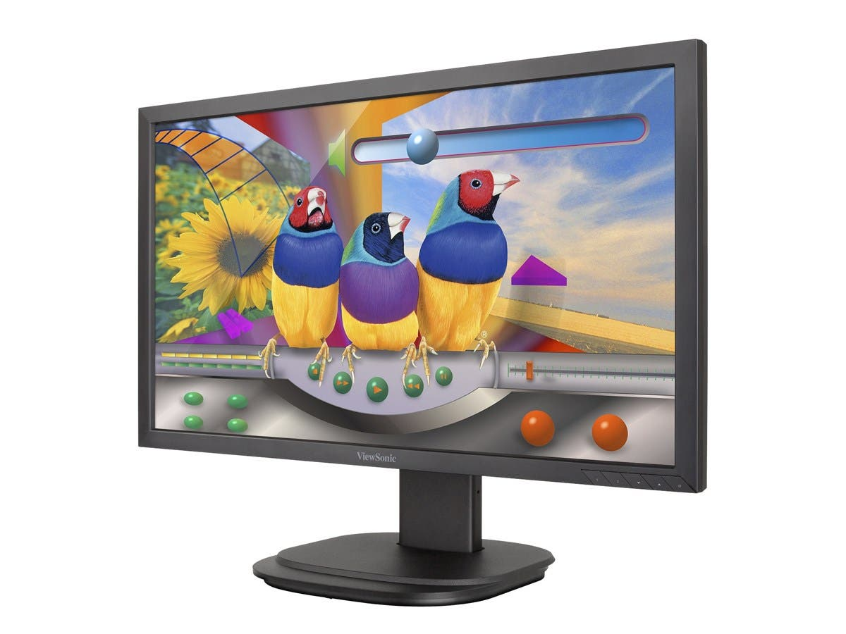 "Viewsonic VG2239Smh 22"" LED LCD Monitor - 16:9 - 6.50 ms - 1920 x 1080 - 250 Nit - 20,000,000:1 - Full HD - Speakers - HDMI - VGA - DisplayPort - USB - 30 W - Black - WEEE, RoHS,-Large-Image-1"