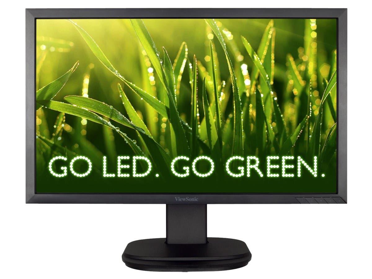 "Viewsonic VG2239m-LED 22"" LED LCD Monitor - Adjustable Display Angle - 1920 x 1080 - Full HD - Speakers - DVI - VGA - DisplayPort-Large-Image-1"