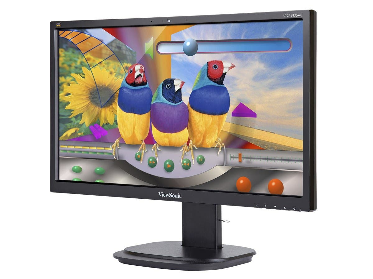 ViewSonic VG2437SMC 24-Inch Ergonomic SuperClear MVA Monitor (WebCam, Full HD 1080p, DP/DVI/VGA/2USB, Integrated Speakers)-Large-Image-1