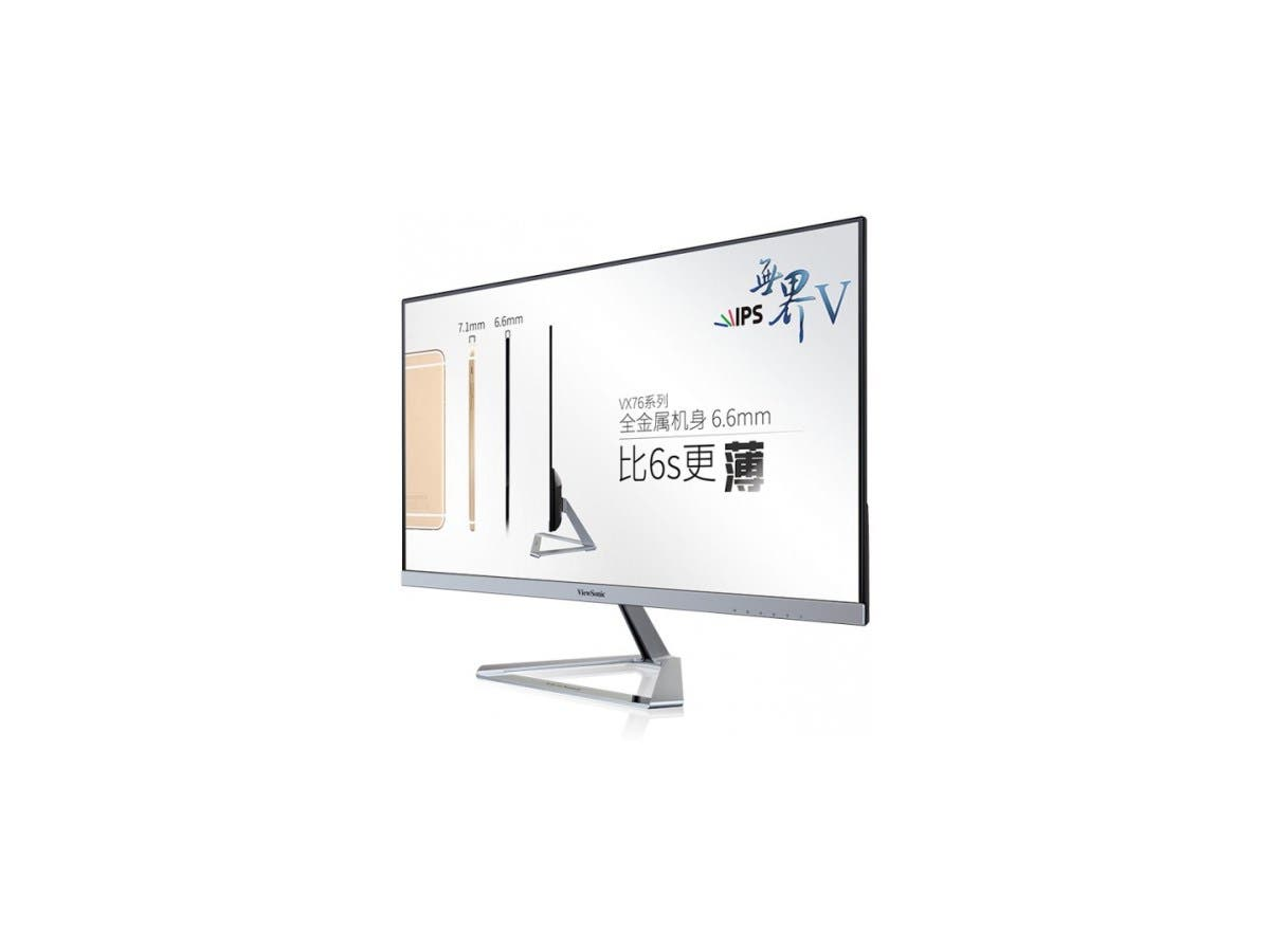 "Viewsonic VX2376-smhd 23"" WLED LCD Monitor - 16:10 - 14 ms - 1920 x 1080 - 16.7 Million Colors - 250 Nit - 80,000,000:1 - Full HD - Speakers - DVI - HDMI - VGA - DisplayPort - 23 W"