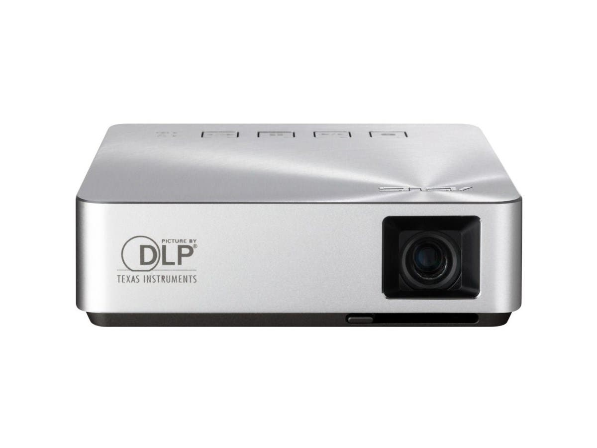 Asus S1 DLP Projector - 480p - EDTV - 4:3 - LED - SECAM, NTSC, PAL - 30000 Hour Normal Mode - 854 x 480 - WVGA - 1,000:1 - 200 lm - HDMI - USB - Silver Color-Large-Image-1