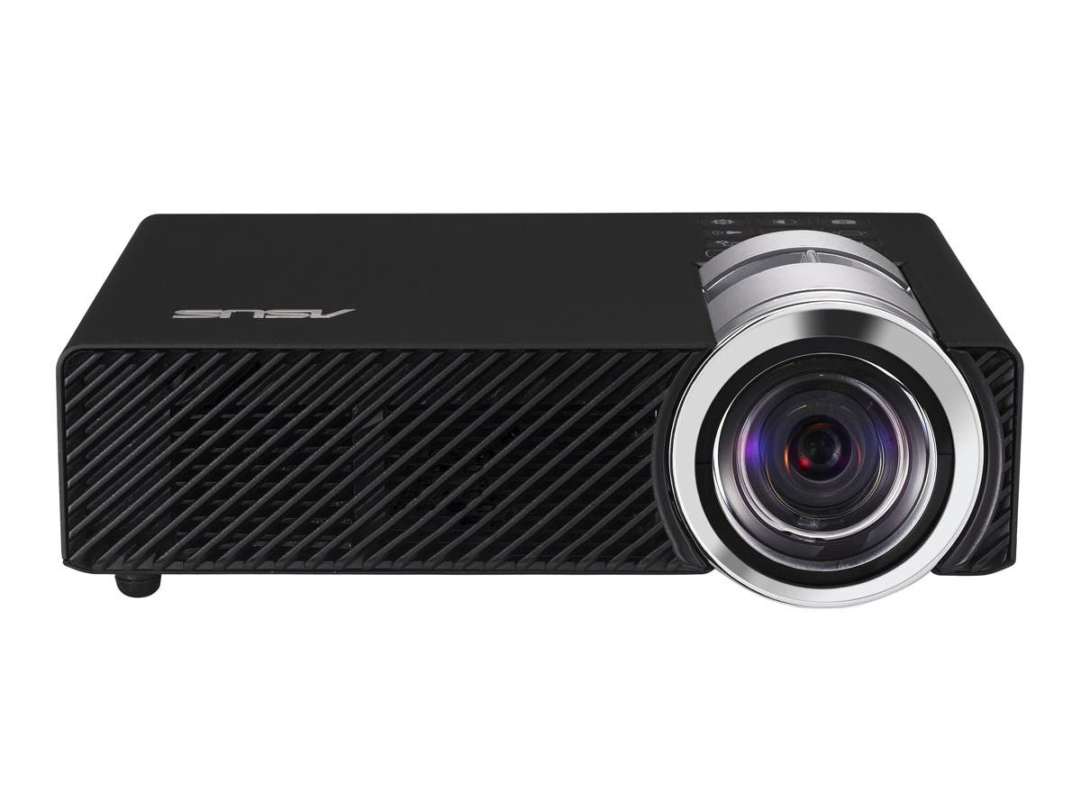 Asus B1MR 3D Ready DLP Projector - HDTV - 16:9 - Ceiling, Front, Rear - LED - NTSC - 30000 Hour Normal Mode - 1280 x 800 - WXGA - 10,000:1 - 900 lm - HDMI - USB - VGA In - SD - 85 W-Large-Image-1