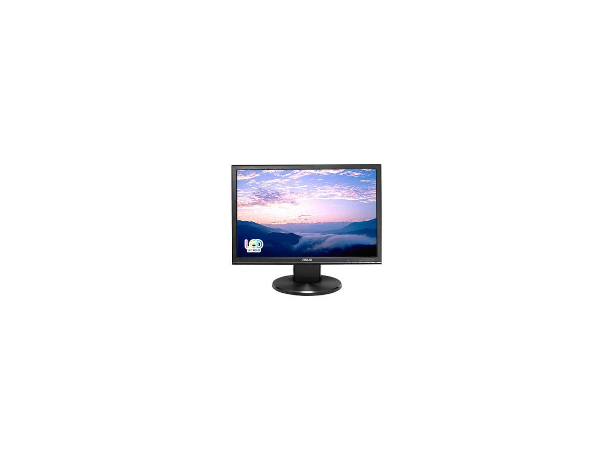 "ASUS VW Series VW199T-P Black 19.1"" 5ms Widescreen LED Backlight LCD Monitor250 cd/m2 ASCR 10,000,000:1 Built-in Speakers-Large-Image-1"