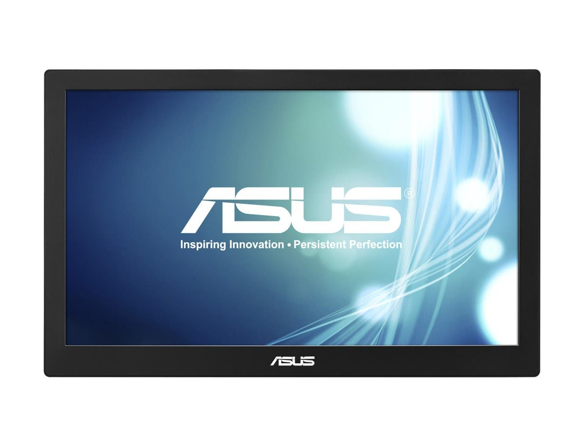 "Asus MB168B 15.6"" LED LCD Monitor - 16:9 - 11 ms - 1366 x 768 - 200 Nit - 500:1 - HD - USB - 5 W - Black, Silver - WEEE, RoHS-Large-Image-1"