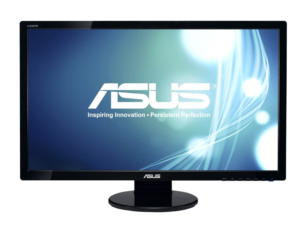 "ASUS VE278H Black 27"" 2ms (GTG) HDMI Widescreen LED Backlight LCD Monitor 300 cd/m2 ASCR 50,000,000:1 (1200:1)-Large-Image-1"