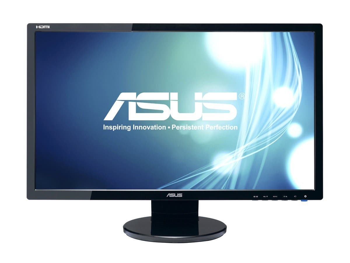 "ASUS VE247H Black 23.6"" 2ms Full HD HDMI LED BackLight LCD Monitor w/Speakers 300 cd/m2 10,000,000:1 (ASCR)-Large-Image-1"