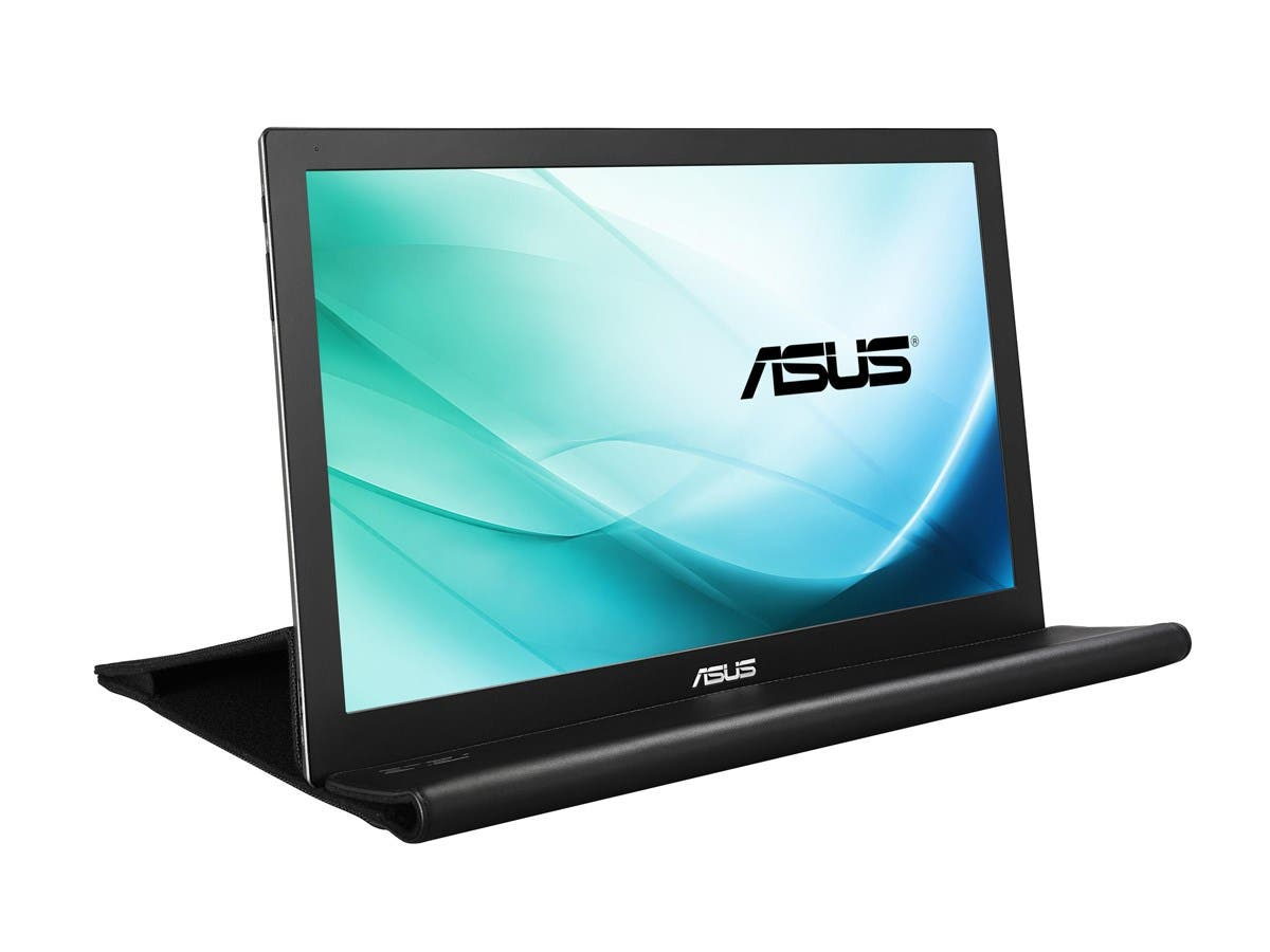 "Asus MB169B+ 15.6"" LED LCD Monitor - 16:9 - 14 ms - 1920 x 1080 - 200 Nit - 700:1 - Full HD - USB - Silver, Black - WEEE, RoHS-Large-Image-1"