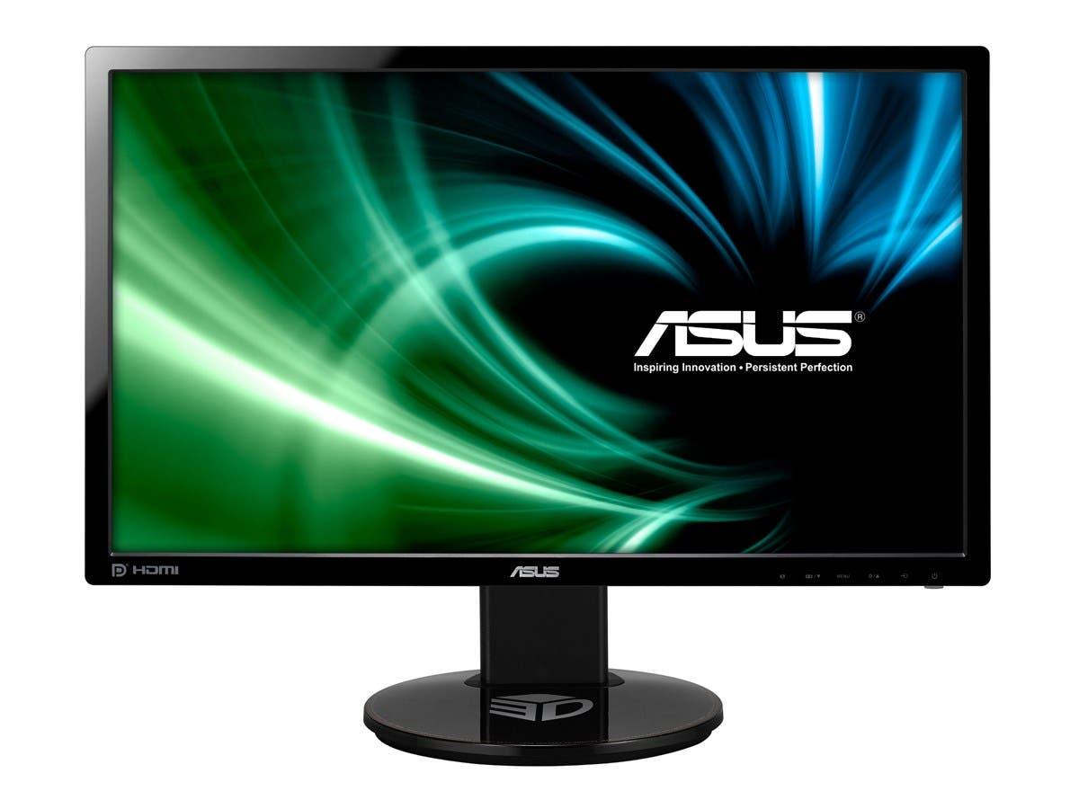 "Asus VG248QE 24"" LCD Monitor - 1 ms - 1920 x 1080 - Full HD - Speakers - DVI - HDMI - Black-Large-Image-1"