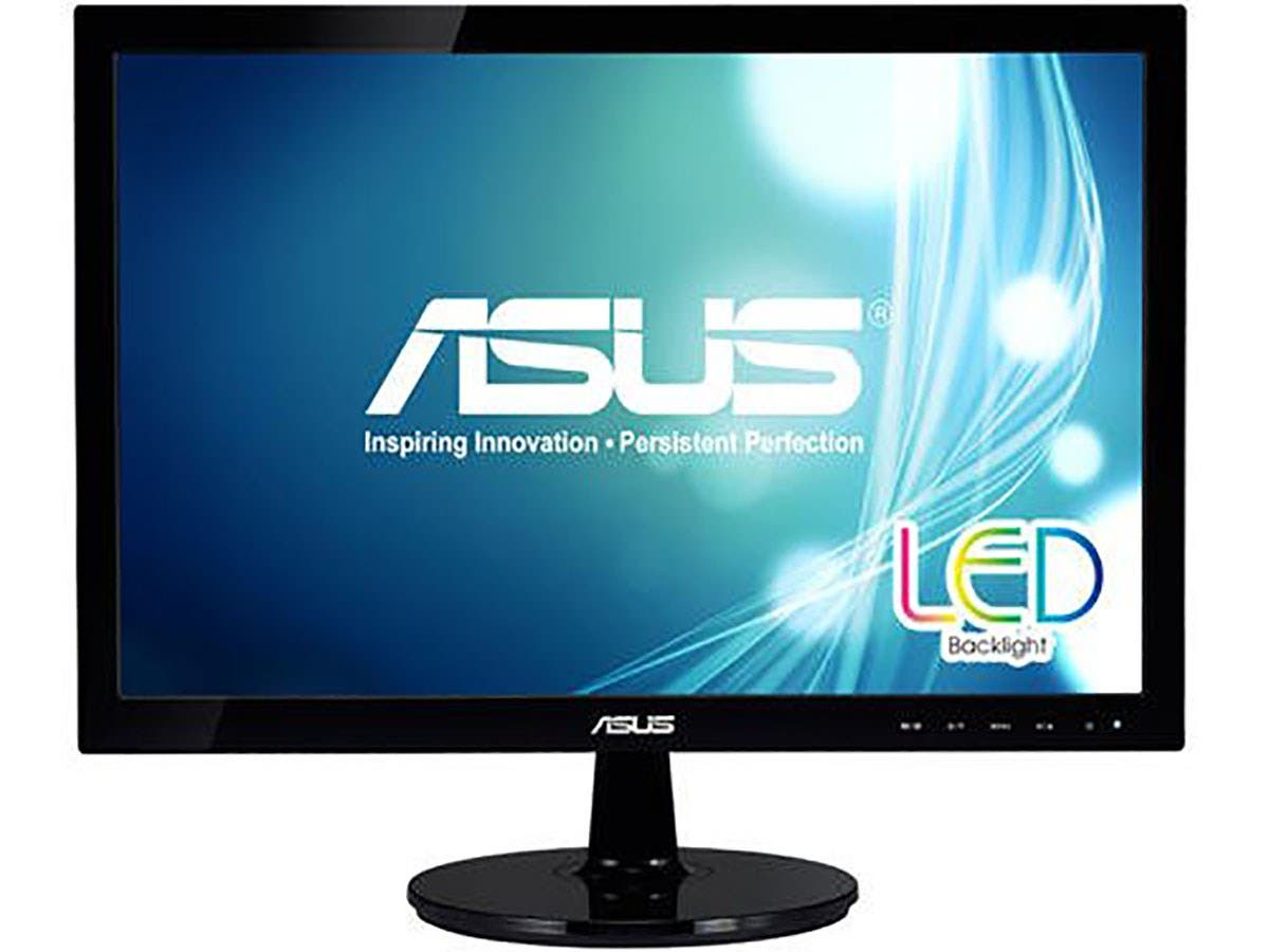 "ASUS VS207D-P Black 19.5"" 5ms Widescreen LED Backlight LCD Monitor 250 cd/m2 ASCR 80,000,000:1-Large-Image-1"