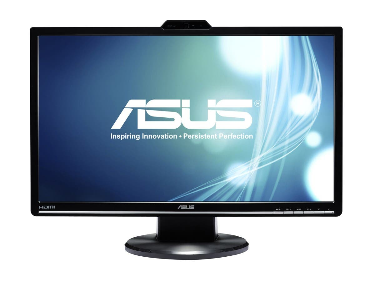 "ASUS VK248H-CSM Black 24"" 2ms (GTG) HDMI Widescreen LED-Backlit LCD Monitor 250 cd/m2 ASCR 50000000:1 Built-in Speakers&Webcam-Large-Image-1"