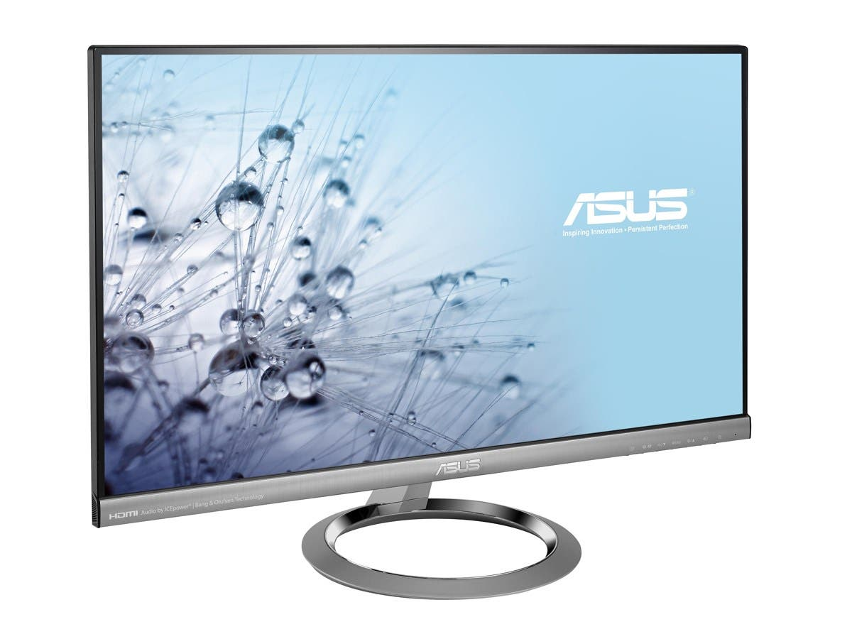 "Asus MX259H 25"" LED LCD Monitor - 16:9 - 5 ms - Adjustable Display Angle - 1920 x 1080 - 16.7 Million Colors - 250 Nit - 80,000,000:1 - Full HD - Speakers - HDMI - VGA - Silver Black - ENERGY STAR-Large-Image-1"