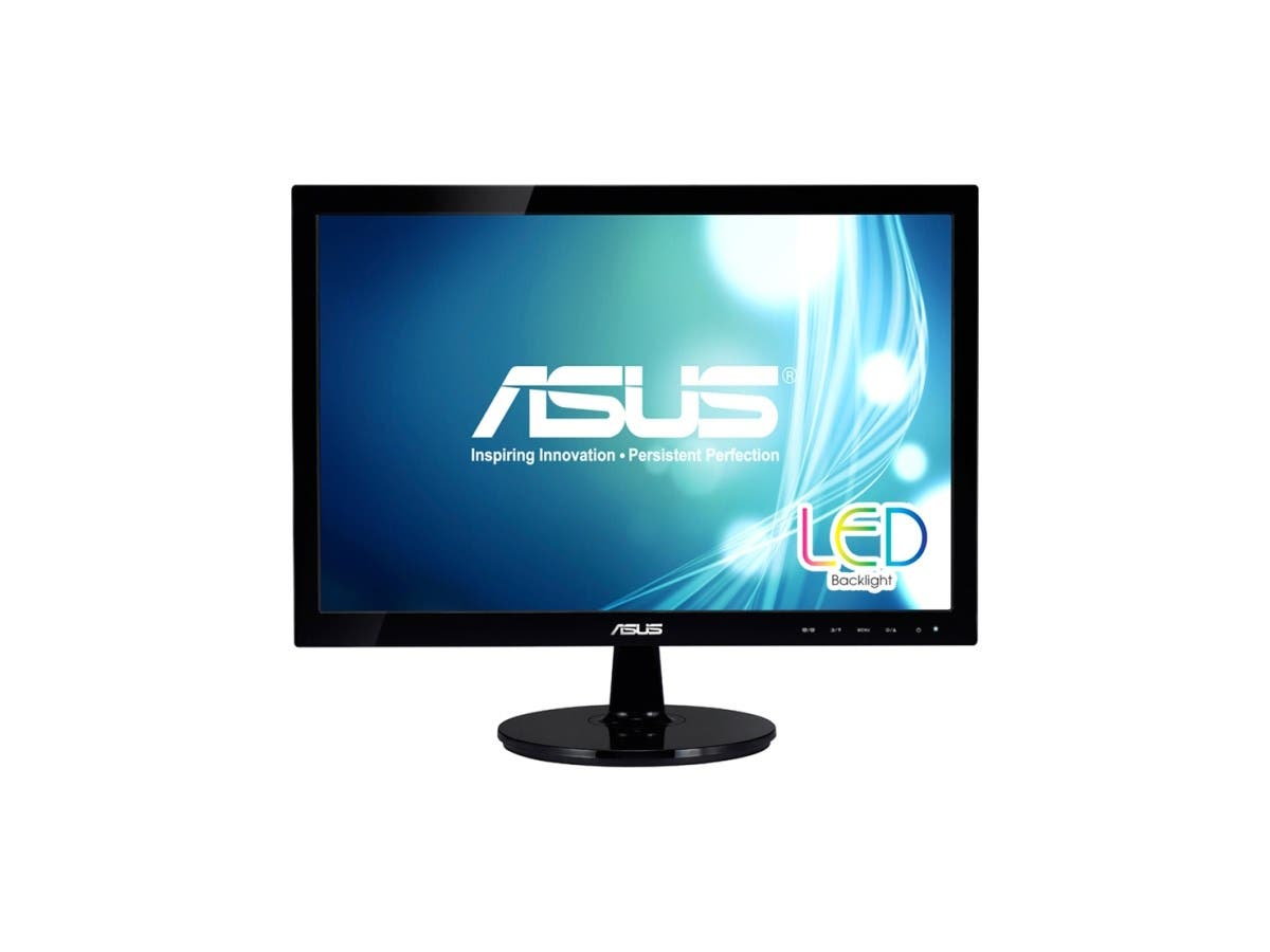 "ASUS VS197T-P Black 18.5"" 5ms Widescreen LED Backlight LCD Monitor 250 cd/m2 50,000,000:1-Large-Image-1"
