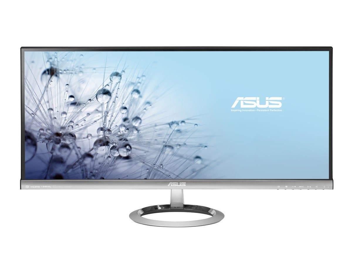 "ASUS MX299Q 29"" 5ms (GTG) AH-IPS HDMI Widescreen LCD/LED Monitor, 300 cd/m2 DCR 80,000,000:1, Built-in Speakers, 100% sRGB Color Saturation, HDMI/MHL, DisplayPort, Dual-link DVI-D-Large-Image-1"