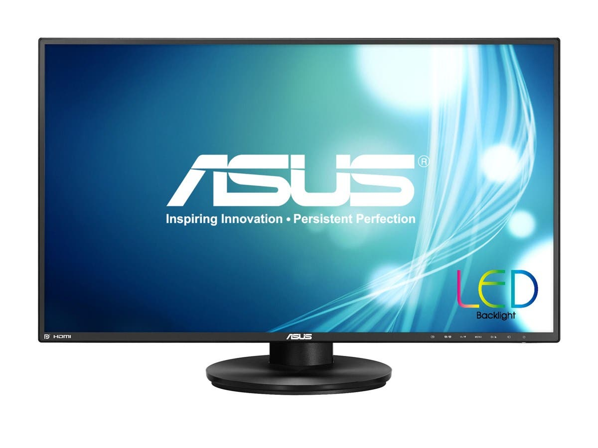 "ASUS VN279QL Black 27"" 5ms (GTG) HDMI Widescreen LED Backlight LCD Monitor 300 cd/m2 100,000,000:1 Built-in Speakers ,Height & Pivot Adjustable-Large-Image-1"
