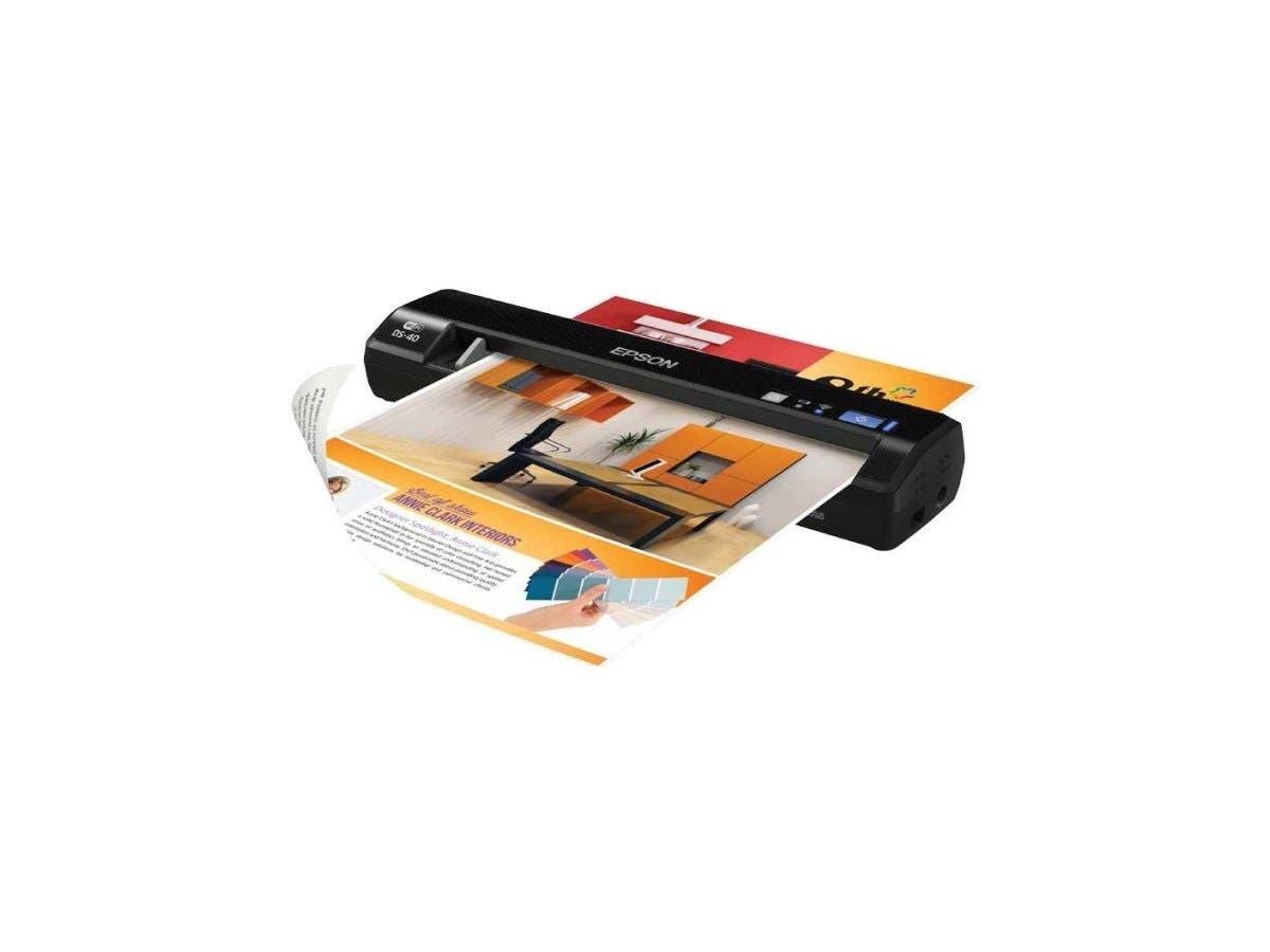 Epson WorkForce DS-40 Sheetfed Scanner B11B225201 - 600 dpi Optical - 48-bit Color - 16-bit Grayscale - USB