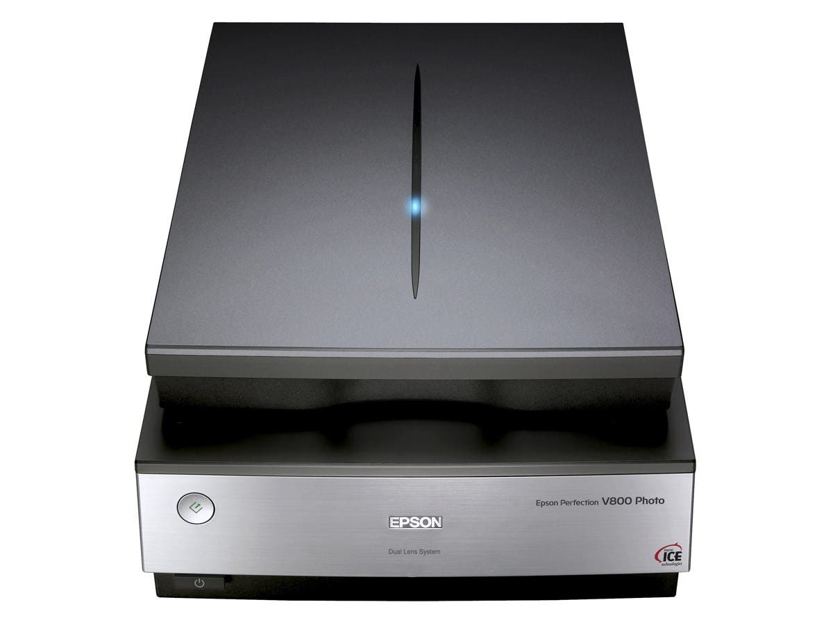 Epson Perfection V800 Flatbed Scanner - 6400 dpi Optical - 48-bit Color - 16-bit Grayscale - USB
