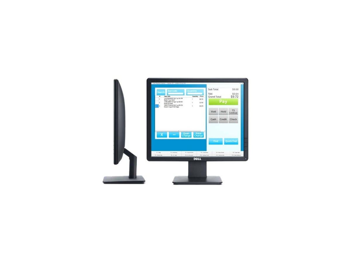 "Dell E1715S TN 5ms 17"" 1280 x 1024 HD LED Backlight Monitor With PowerNap Technology, 250 cd/m2 1000:1,Tilt Adjustment, VESA Mountable, VGA/DP-Large-Image-1"