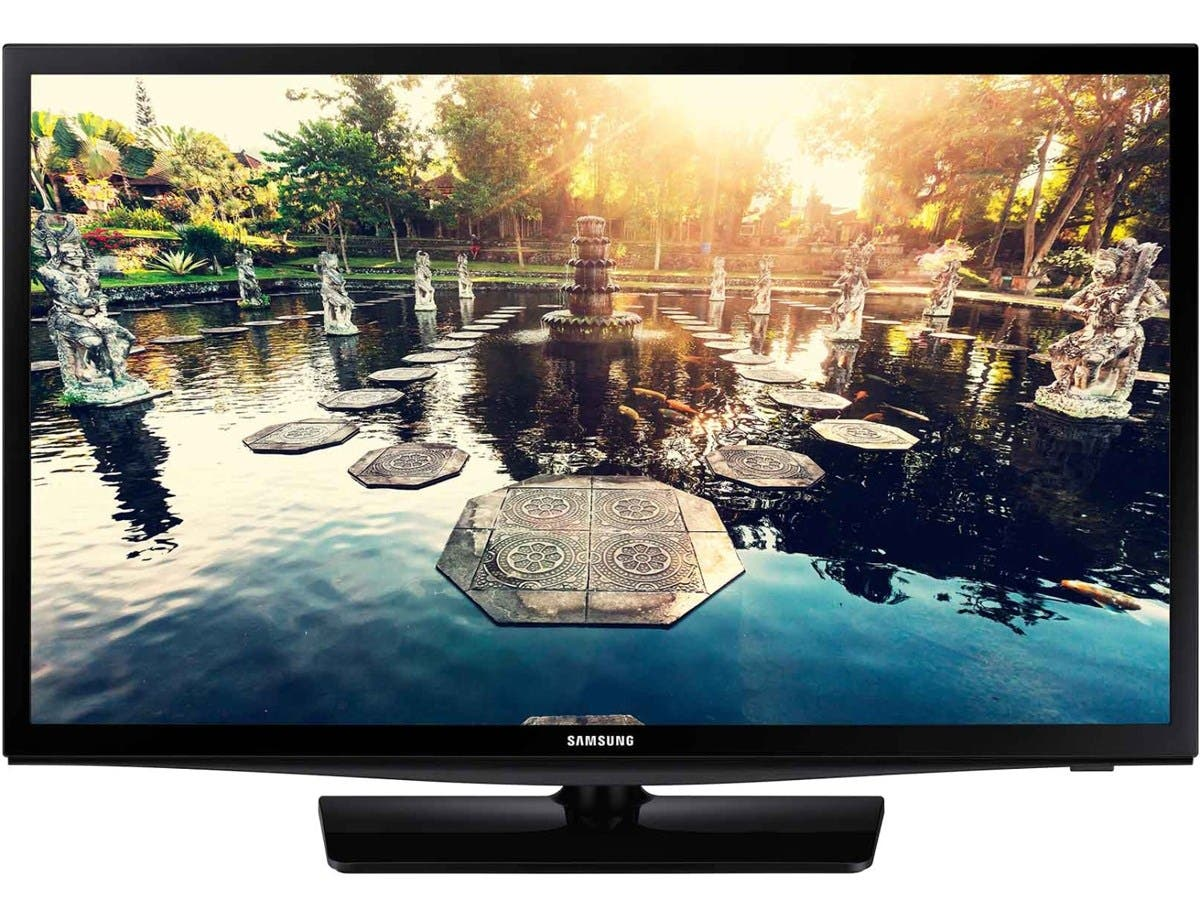 "Samsung 690 HG24NE690AF 24"" Hospitality LED-LCD TV - 16:9 - HDTV - Black - ATSC - 1366 x 768 - Dolby Digital Plus, Virtual Surround, DTS - 10 W RMS - Direct LED - Smart TV - 2 x HDMI-Large-Image-1"