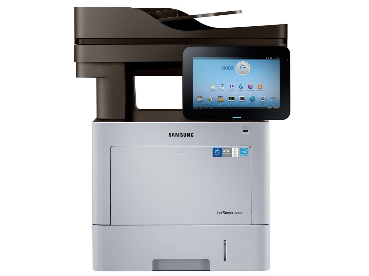 Samsung ProXpress M4583FX Laser Multifunction Printer - Monochrome - Plain Paper Print - Desktop - Copier/Fax/Printer/Scanner - 47 ppm Mono Print - 1200 x 1200 dpi Print - 36 cpm Mono Copy