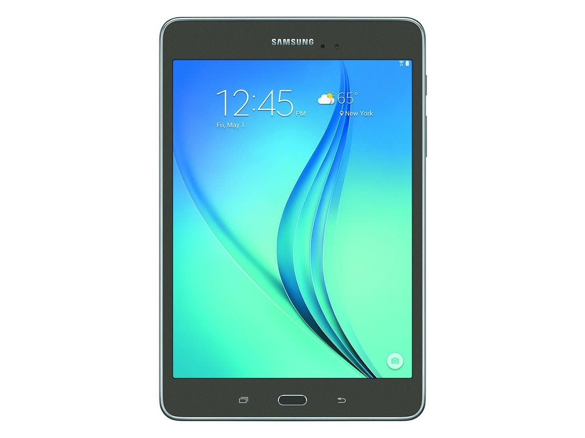 "Samsung Galaxy Tab A SM-T350 16 GB Tablet - 8"" - Plane to Line (PLS) Switching - Wireless LAN - Qualcomm Snapdragon 410 APQ8016 Quad-core (4 Core) 1.20 GHz - 1.50 GB RAM - Android 5.0-Large-Image-1"