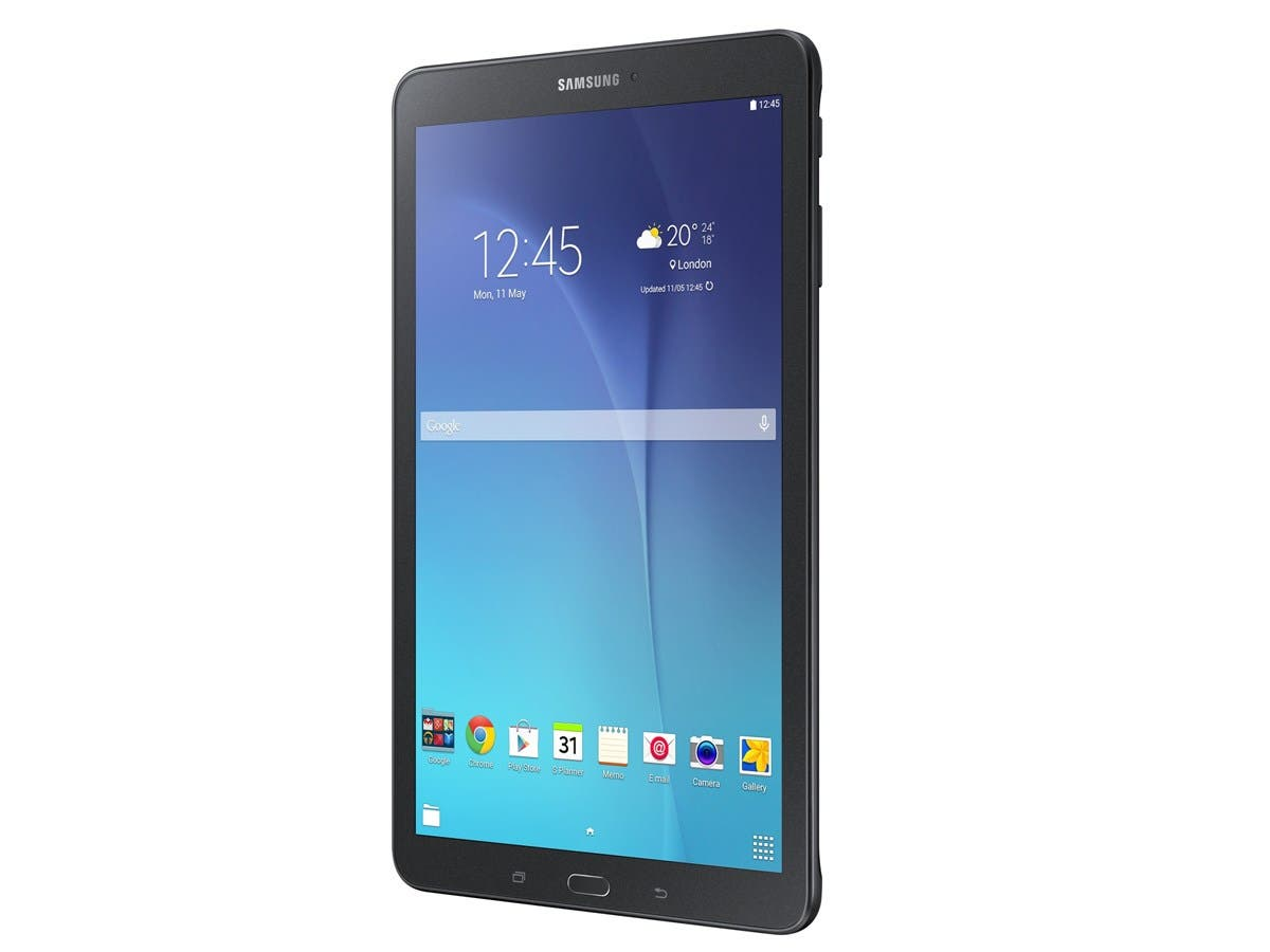 "Samsung Galaxy Tab E SM-T560 16 GB Tablet - 9.6"" - Wireless LAN - Qualcomm Snapdragon 410 APQ8016 Quad-core (4 Core) 1.20 GHz - Black - 1.50 GB RAM - Android 5.1 Lollipop - Slate - 1280 x 800 -Large-Image-1"