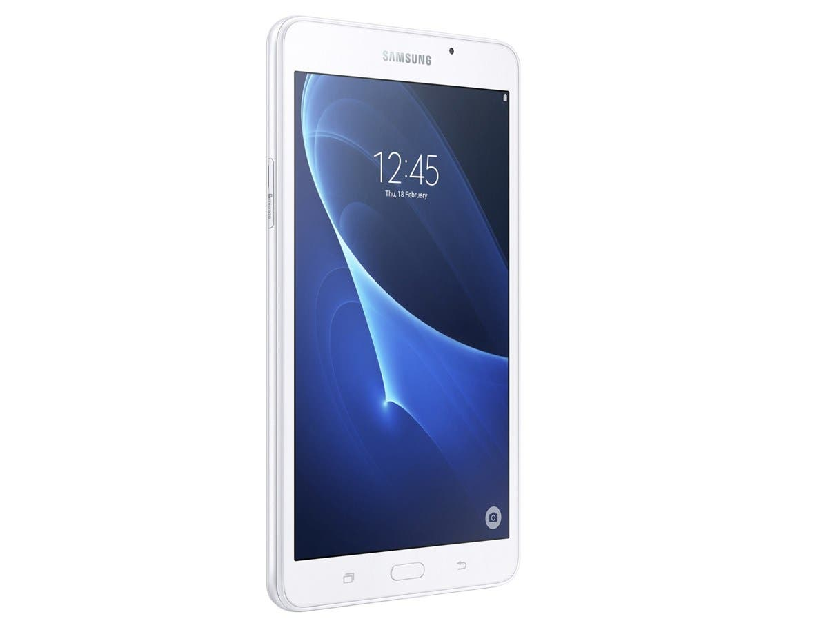 "Samsung Galaxy Tab A SM-T280 8 GB Tablet - 7"" - Plane to Line (PLS) Switching - Wireless LAN Quad-core (4 Core) 1.30 GHz - White - 1.50 GB RAM - Android 5.1 Lollipop - Slate - 1280 x 800-Large-Image-1"