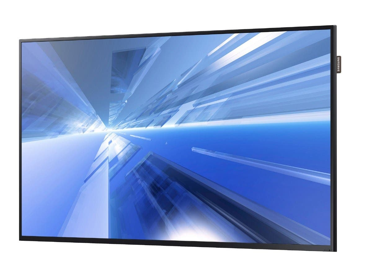 "Samsung DC48E - DC-E Series 48"" Direct-Lit LED Display for Business - 48"" LCD - 1920 x 1080 - Direct LED - 350 Nit - 1080p - HDMI - USB - DVI - SerialEthernet"