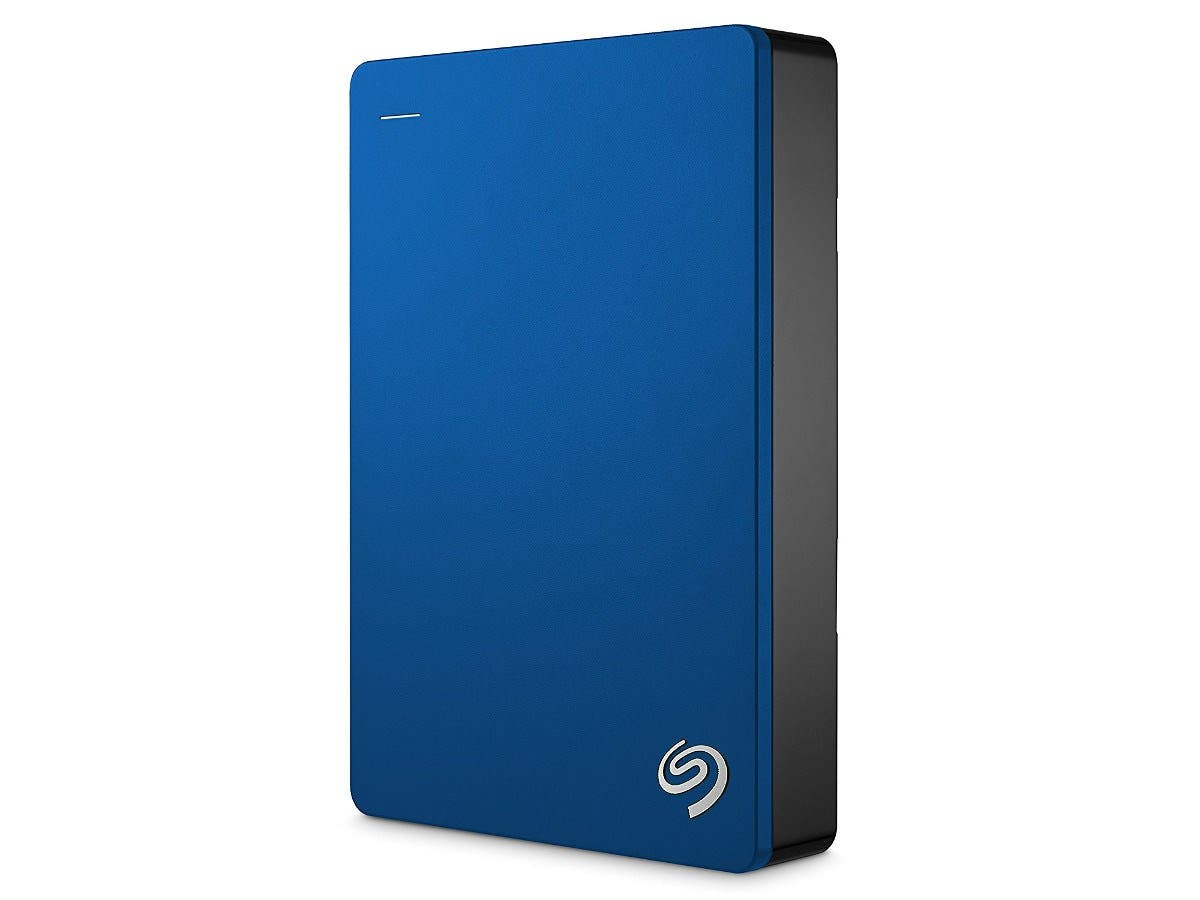 "Seagate Backup Plus STDR4000901 4 TB 2.5"" External Hard Drive - USB 3.0 - Portable - Blue-Large-Image-1"