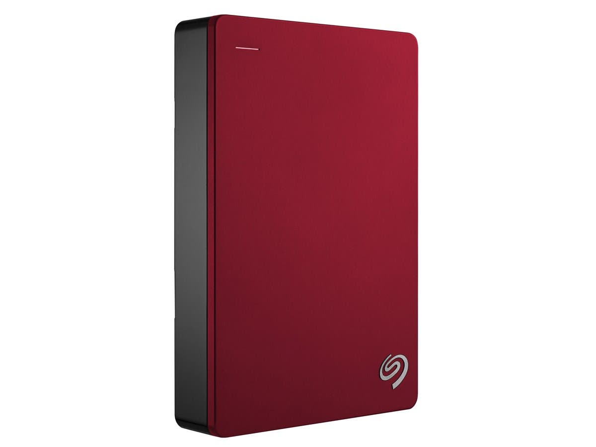 "Seagate Backup Plus STDR4000902 4 TB 2.5"" External Hard Drive - USB 3.0 - Portable - Red-Large-Image-1"