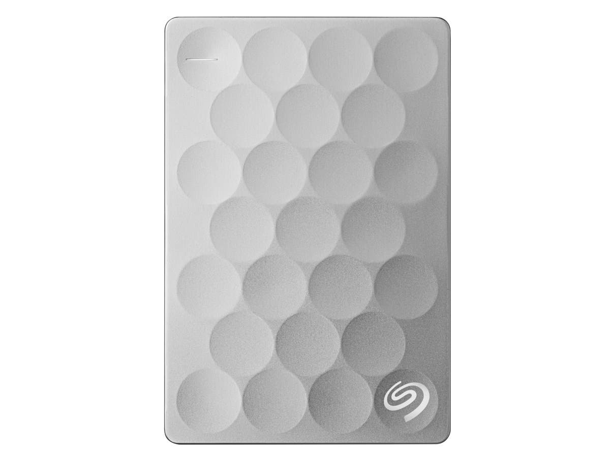 Seagate Backup Plus Ultra Slim STEH2000100 2 TB External Hard Drive - USB 3.0 - Portable - Platinum-Large-Image-1