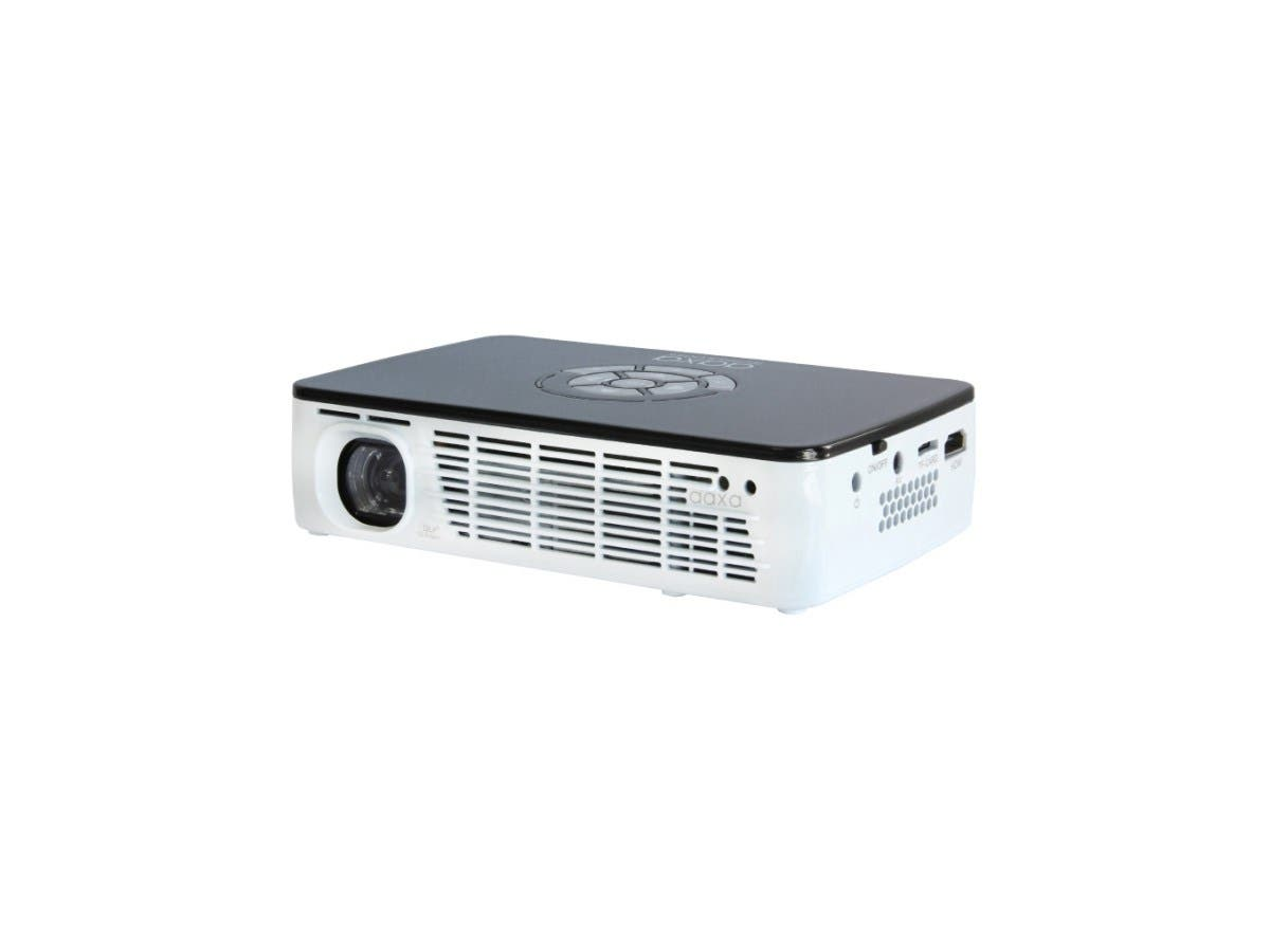 AAXA P300 Portable Projector, 1280x800 WXGA HD Resolution, 400 Lumens, Onboard Battery, 15,000 Hour LED, Media Player, DLP-Large-Image-1