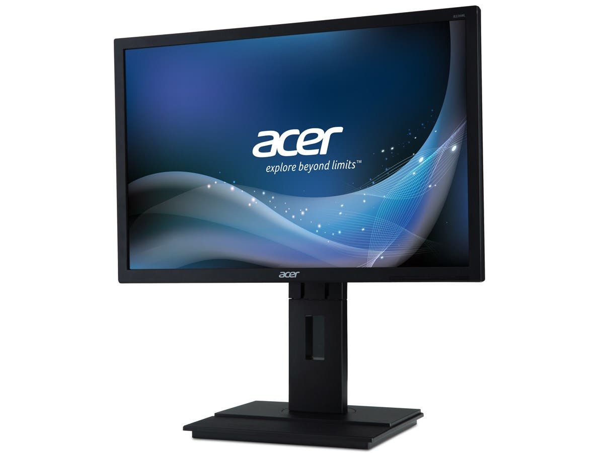 "Acer B226WL 22"" LED LCD Monitor - 16:10 - 5 ms - Adjustable Display Angle - 1680 x 1050 - 250 Nit - 100,000,000:1 - WSXGA+ - Speakers - DVI - VGA - 24.20 W - Black - TCO '06-Large-Image-1"